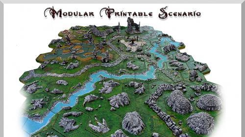 Modular printable scenario
