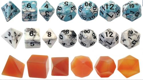 Gemstone Dice: Holiday Edition! RPG Polyhedral and d6 Sets