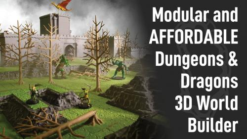 Monster Adventure Terrain- 3D Customizable D&D World Builder