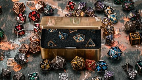 Handcrafted Ancient Myth TRPG Dice Collection By InfiniDice