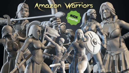 AMAZON WARRIORS – 3D Printable Miniatures – STL files