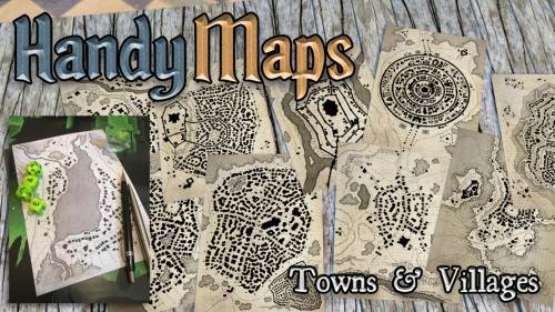 HandyMaps - Town & Village A5 Card Handouts for RPGs