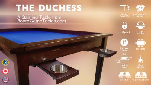 The Duchess - A Gaming Table from BoardGameTables.com
