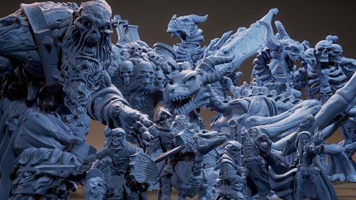 Bestiary Vol #3 - 3D Printable Models