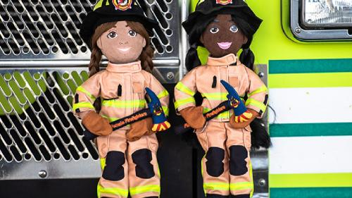 Female Firefighter Plush Doll- Girls CAN be firefighters!