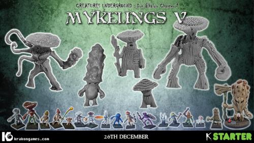 Mykelings 5: Siege-themed Myconid miniatures