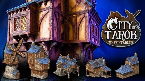 City of Tarok: 3D printable medieval buildings