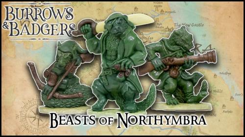 Burrows & Badgers: Beasts of Northymbra Anthro Miniatures