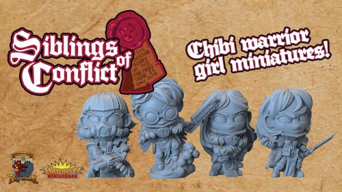 Chibi Siblings of Conflict Miniatures