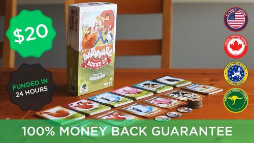 Barnyard Roundup, Bluffing set collection card game! Ages 6+