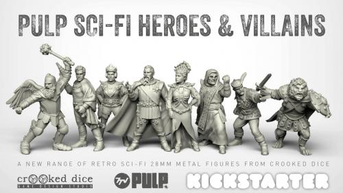 Pulp Sci-Fi Heroes and Villains - 28mm Miniatures