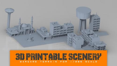 Printable Scenery: 1/285 and 6mm models for modern conflicts