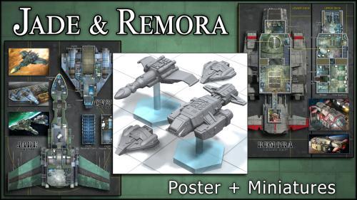 Jade & Remora: Starship Maps & Miniatures