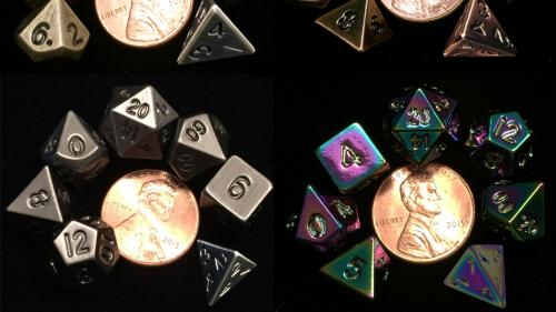 MINI Metal Polyhedral Dice Sets from Metallic Dice Games