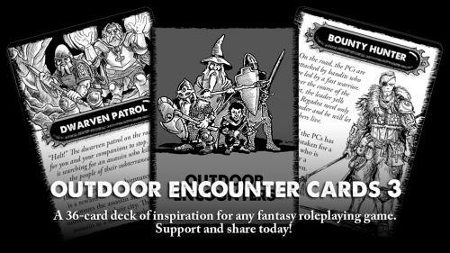 Outdoor Encounter Cards 3 - For use with many tabletop RPGs.