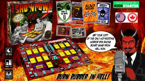 The Showdown board game: A hot-rodding, RPG to die for!