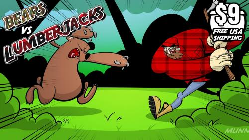 Bears vs Lumberjacks A 2-3 player card game!