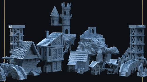 Fantasy / Medieval 3D Printable Terrain