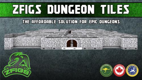 ZFigs Interlocking Dungeon Tiles