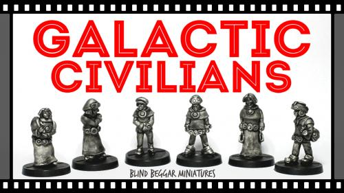 Galactic Civilians (28mm scale Sci-Fi miniatures)