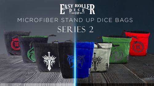 Reversible Self Standing Microfiber Dice Bags - Series 2