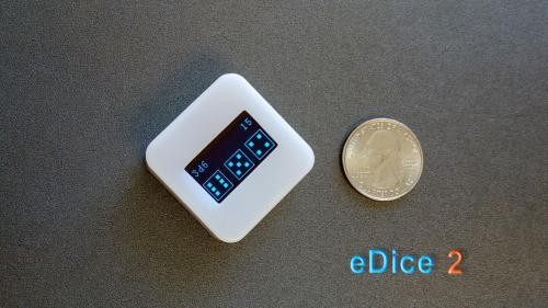eDice 2: An universal electronic dice for tabletop games