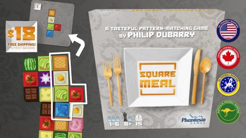 Square Meal: A Tasteful Card Game by Philip duBarry