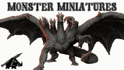 Monster Miniatures: 3d Printable Support-Free Tabletop Minis