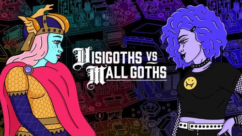 Visigoths vs Mall Goths (game & weird 90s mall setting)