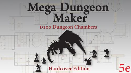 Mega Dungeon Maker D100 Random Maze Generator for 5e + more