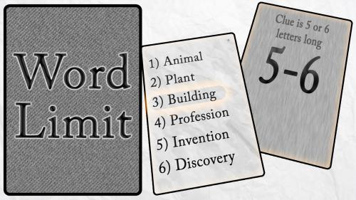 Word Limit: a competitive clue-giving word game