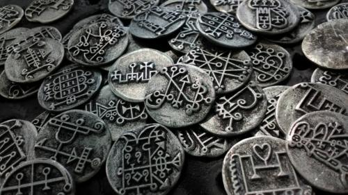 80 Solid metal Goetia coins All 72 Lesser Key Solomon Demons