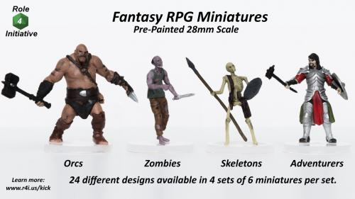 Fantasy RPG Pre-Painted Miniatures