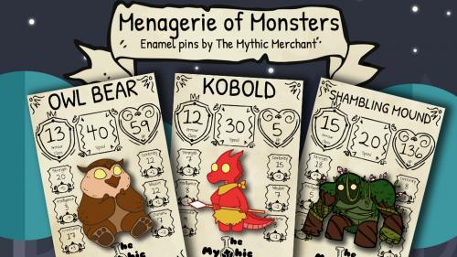 Menagerie of Monsters Enamel Pins